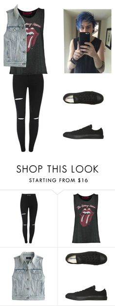 """""""Michael Clifford Inspired Outfit"""" by crybabyteen ❤ liked on Polyvore featuring J.Crew and Converse"""