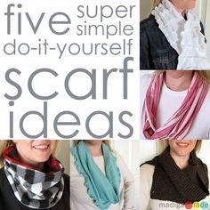 5 Simple DIY Scarf Ideas (plus many more!)