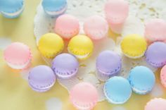 10 pcs Polymer Clay Tiny Macaroon Cabochon 15mm by misssapporo