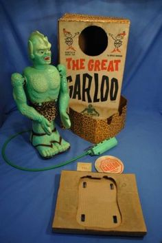 Marx-Great-Garloo-Boxed-Rare-Leopard-Insert-Excellent-Working-Vintage-1960s