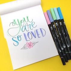 Hello friends! It�s Smitha here today sharing a few lettering tutorials using the new Pastel Dual Brush Pen Set today! I�ll share a few of my favorite lettering tips in this post and there is a video included too! I have been enjoying the soft colors of t How To Write Calligraphy, Calligraphy Pens, Tombow Dual Brush Pen, Lettering Tutorial, Pen Sets, Card Maker, Bullet Journal Inspiration, Brush Lettering, Copics