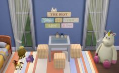 *** Pouf Recolors TS4 *** Four pouf recolors in... - When in Sims