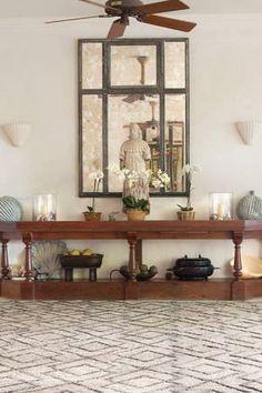 #Dashandalbert Marco Oak Jute Soumak Woven #Rug. We're head over paws for this striking original design, with a soumak weave background and cut-pile pattern. #interiors #homedecor