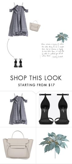 """Untitled #48"" by nadinajmi ❤ liked on Polyvore featuring MSGM, Yves Saint Laurent, Pixie and Pier 1 Imports"