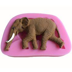 Diy 3D Cute Elephant Shape Silicone Mold Fondant Silicone Cake Decorating Tools