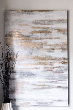 Home Sweet Home - The Chriselle Factor: I also love this texture painting from Z Gallerie. Hanging your paintings high is a great way to add height to a room! Metal Tree Wall Art, Diy Wall Art, Wall Decor, Room Decor, Copper Wall Art, Wal Art, Your Paintings, Hanging Paintings, Living Room Paintings