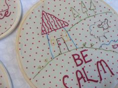 Embroidery hoop art Embroidery Hoop Art, Machine Embroidery, Extra Fabric, Decorative Plates, It Works, Home Decor, Decoration Home, Interior Design, Home Interior Design