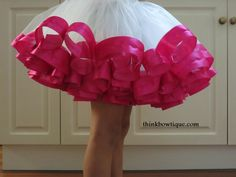 Make a ribbon trimmed tutu - gorgeous tut tutorial