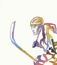 Ice Hockey Print, Hockey Wall Art, Hockey Painting, Olympic Sport Art, Athlete… – From Parts Unknown Blackhawks Hockey, Chicago Blackhawks, Painting & Drawing, Watercolor Paintings, Sports Gallery, Olympic Sports, Realistic Drawings, Sports Art, Ice Hockey
