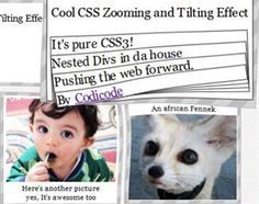 Cool CSS3 Zooming and Tilting Effect