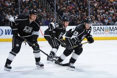 Los angeles kings hd wallpapers sharovarka pinterest hd os angeles ca october robyn regehr kyle clifford and dustin brown of the los angeles kings prepare for a faceoff during a game against the columbus blue voltagebd Gallery