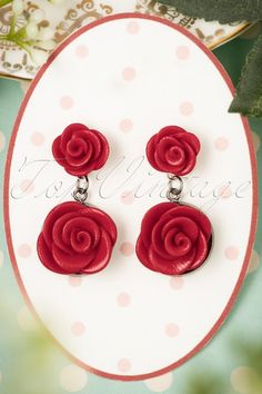 Sweet Cherry Red Roses Earrings 333 20 22420 07102017 009W