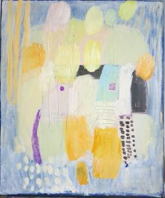 M.Kobus, abstract painting, acrylic painting spring