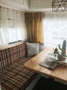 My vintage trailer! Roulotte Tabbert 3600, 1980. Vintage caravan glamping makeover. On sale in Genova, Italy €10,000. For info: Rebeccarinaldidesign@gmail.com Glamping, Caravan, Italy, Curtains, Vintage, Home Decor, Gypsy Caravan, Italia, Blinds