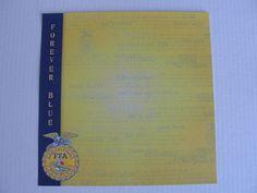 New FFA 12x12 Forever Blue acid free scrapbook paper by CraftsNextDorr on Etsy