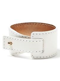 Leather Peg Cuff