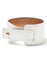 Leather Peg Cuff