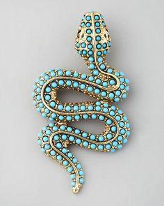 Turquoise Snake Pin.