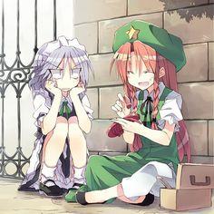Maybe its just me, but Sakuya and Meiling make a good team/duo, apart from having opposing 'personalities' . . #touhou #touhouproject #projectshrinemaiden #teamshanghaialice #zun #japan #anime #danmaku #draw #otaku #chibi #youkai #game #fanart #theme #waifu #boss #weaboo #manga #sakuyaizayoi #hongmeiling #china #eosd #scarletdevil http://butimag.com/ipost/1566393274086927096/?code=BW88mI4gyr4
