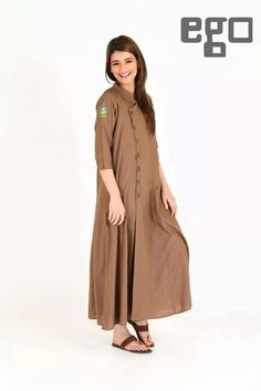 Loose frock side buttons