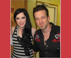 """Thompson Square (aka Shawna and Keifer Thompson) say cheese backstage shortly before taking the stage Credit: Photography by Jeremy L. Roberts  Part of a A 17-image slideshow featuring 2013 Academy of Country Music Top Duo Thompson Square in action (best known for their chart-topper called """"Are You Gonna Kiss Me or Not?""""), behind the scenes and performing in front of a frenzied audience at Wild Adventures Theme Park in Valdosta, Georgia, in May 2012"""