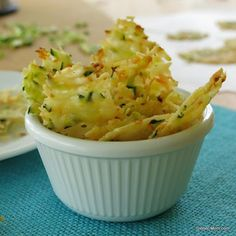 Parmesan Cheese Crisps Laced With Zucchini & Carrots With Parmesan Cheese, Shredded Zucchini