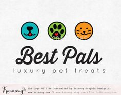 Items similar to Cat dog logo, premade logo Pet shop logo, cat dog ...