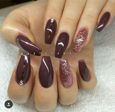 I don't care for the coffin shape. I do however really like this color. 💅 Orange Toe Nails, Brown Nails, Red Nails, Orange Nail Designs, Pretty Nail Designs, Winter Nail Designs, Simple Nail Designs, Nail Art Designs, Neutral Gel Nails