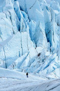 Matanuska Glacier, Alaska (the largest glacier accessible by car in the USA)…