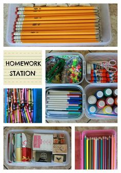 How to create a HOMEWORK STATION. www.bddesignblog.com #organization #school
