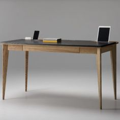 zegen-pavel-vetrov-ollly-desk-9 - Design Milk Home Office, Office Desk, Home Furniture, Furniture Design, Vanity Desk, Bureau Design, Modern Desk, Woodworking Tips, Light Table