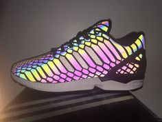e7b60c0659c40 ... Adidas ZX Flux XENO 3M Reflective Size 9 Snake Black MultiColor All Star  B24441  adidas