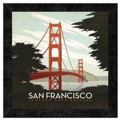 San Francisco Golden Gate Bridge Wall Art