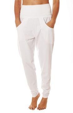 Sofibella Ladies Lounge Pull On Golf Pants - ESSENTIALS White