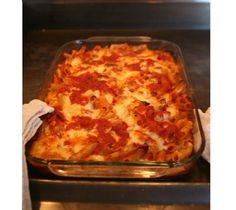 Baked Ziti: easy to assemble, so it's one of those recipes that you can double or triple on those occasions when you have to feed your kids' whole soccer team