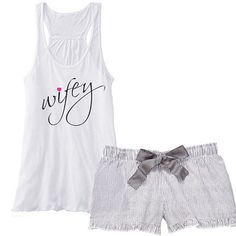 wifey (with Heart) Flowy Racerback Tank and Charcoal Striped Seersucker Boxer Set   Mrs Boxer   Wifey Pajama