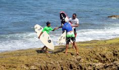 I went to a surfing event recently, and this is one of my favorite moments that I was smart enough to snap. The sportsmanship displayed by these three young kids after their category/competition was over was amazing.