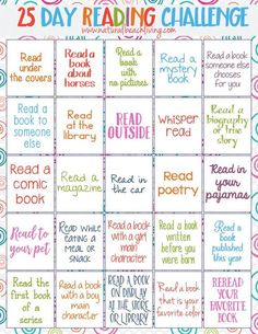 Perfect 25 Day Reading Challenge for Kids kids reading activities free printables reading challenge Fun Book Ideas Reading is important Kids Books Reading Bingo, Reading Incentives, Reading Charts, Reading Club, Teaching Reading, Reading Groups, Reading Day, Home Reading Log, Reading Genres