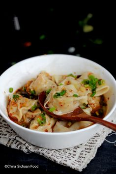 Red oil wontons - delicious!!