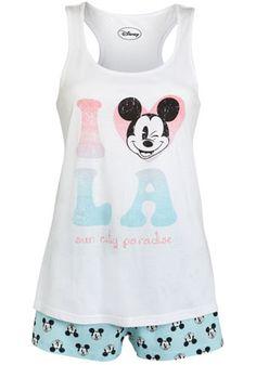Disney Mickey Mouse La Shorts Pyjamas £12 Tesco