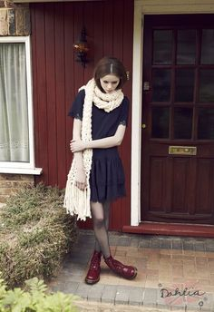 Take your go-to black dress to the next level with combat boots and a huge scarf.   Read more: http://www.gurl.com/2014/08/30/style-tips-how-to-wear-combat-boots-outfit-ideas-dr-martens/#ixzz3RADzpHlo