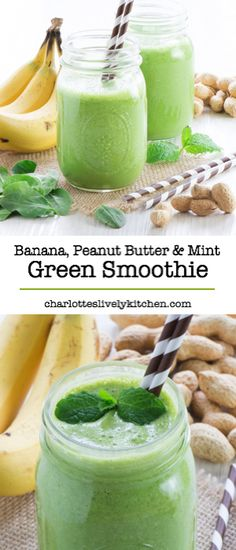 Banana peanut butter mint green smoothie. Make sure you use non-dairy milk. I'll probably add a few more bananas and/or some oats to make it more filling.