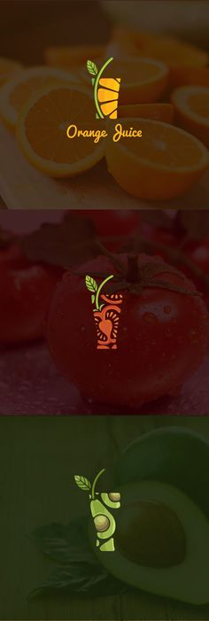 """Check out this @ Behance project: """"Juice Logo Colle . - Check out this @ Behance project: """"Juice Logo Colle … – - Logo And Identity, Identity Design, Brand Identity, Creative Logo, Creative Design, Design Art, Food Design, Graphic Design Projects, Logo Inspiration"""