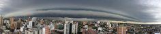 Foto panorámica con la tormenta avanzando hacia la ciudad... ✿⊱╮Mirtha Aguilera