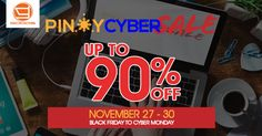 re you fond of shopping online? Yes? Then you're in luck! Major Filipino e-tailers and select leaders in the online business have banded together to provide an e-commerce venue that offers a whole weekend of exciting online deals from Black Friday to Cyber Monday. Online shopping addicts will surely have a grand time from November 27-30. (That's an entire weekend of frantic online shopping and top deals from the best online shops in the Philippines)
