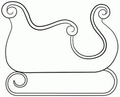 6 Best Images of Printable Sleigh Template - Santa Sleigh Template Printable, Santa Sleigh Cut Out Templates and Free Printable Santa Sleigh Template Christmas Applique, Christmas Embroidery, Felt Christmas, Christmas Colors, Christmas Decorations, Christmas Sleighs, Christmas Templates, Christmas Printables, Christmas Projects