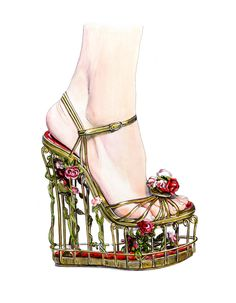 Illustration.Files: Dolce & Gabbana F/W 2013 Heels by Lidia Luna