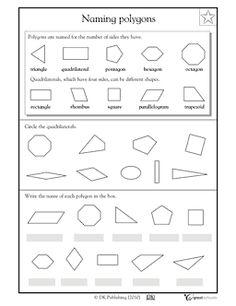 Naming polygons - Worksheets & Activities | GreatSchools