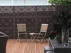 Zagora 48 x 24 Outdoor Deck Privacy Panels filter of sunlight and views. Add a decorative garden screen to your balcony, deck or patio or use as fencing. Outdoor Privacy Panels, Garden Privacy Screen, Privacy Plants, Privacy Walls, Privacy Screens, Outdoor Tub, Outdoor Chairs, Outdoor Furniture Sets, Outdoor Decor