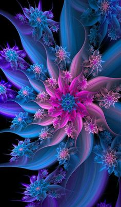 Solve More challenging Art jigsaw puzzle online with 84 pieces Fractal Images, Fractal Art, Colorful Wallpaper, Wallpaper Backgrounds, Flower Wallpaper, Fractal Design, Good Night Image, Pretty Wallpapers, Psychedelic Art